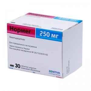 Нормег 250 мг №30