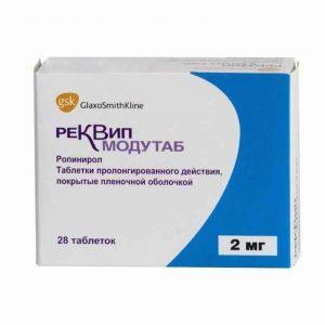 Реквип модутаб 2 мг №28 1