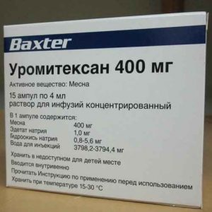 Уромитексан 400 мг/4мг/15шт 1